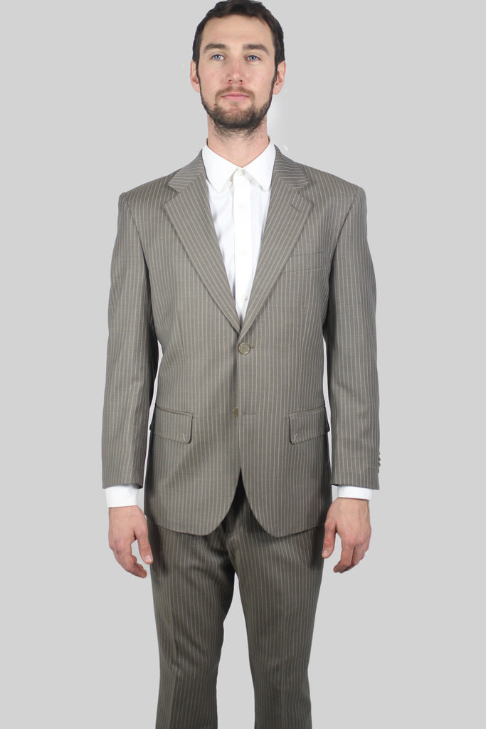 Taupe Striped Suit