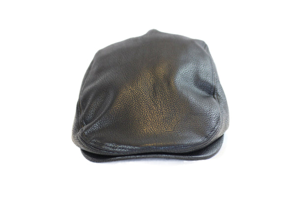 Black Leather Beret
