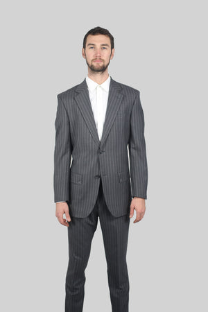 Grey Striped Suit