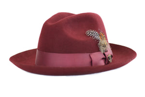 Red Wide Brim Hat