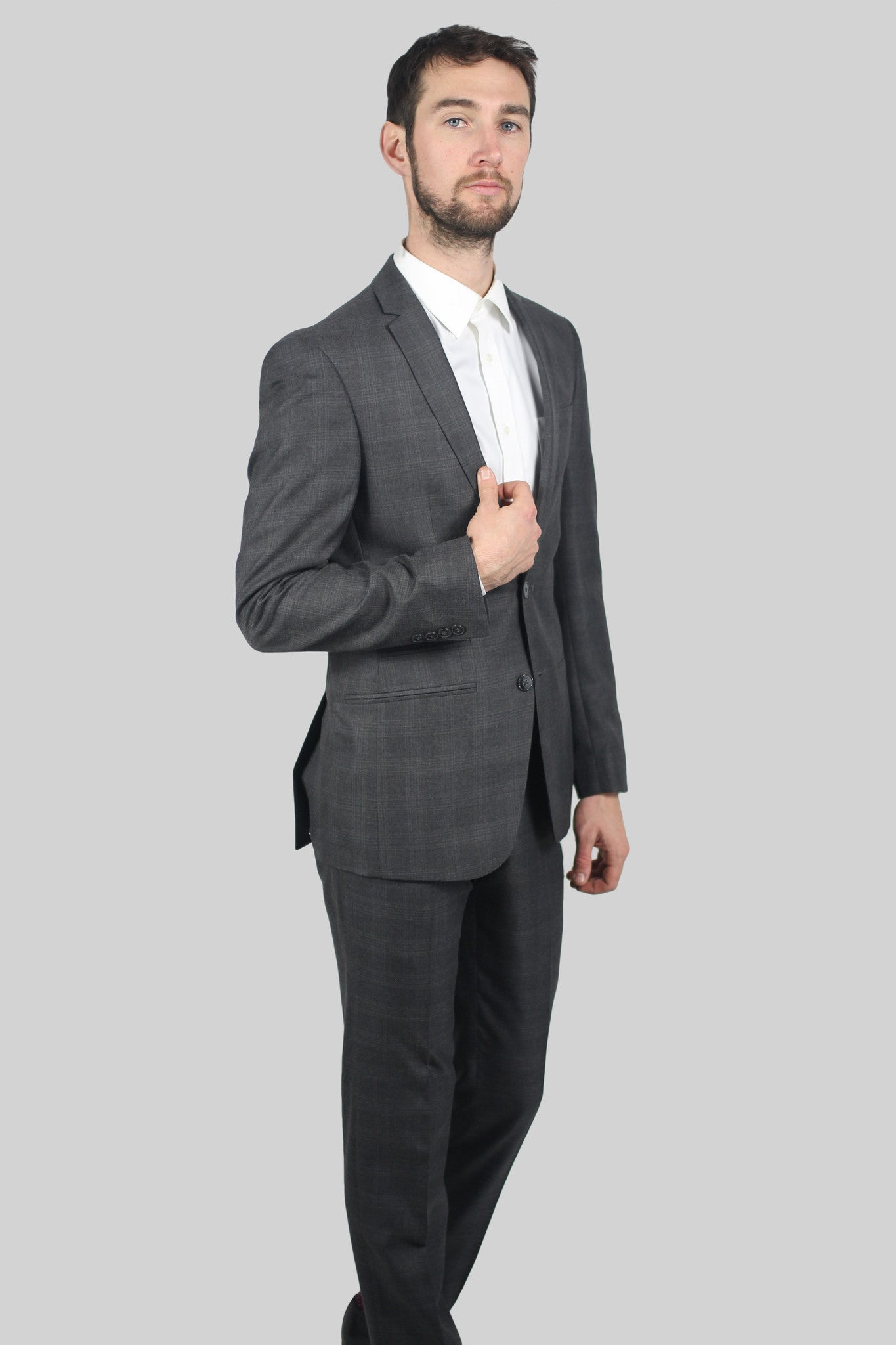 Grey Structured Suit