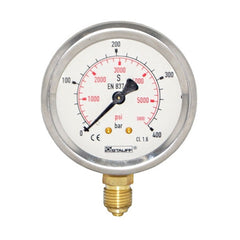 63mm Dial Face Stem Mount Pressure Gauge with BSPP Connection