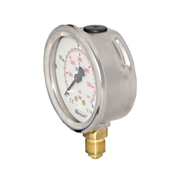 63mm Dial Face Stem Mount Pressure Gauge with NPT Connection