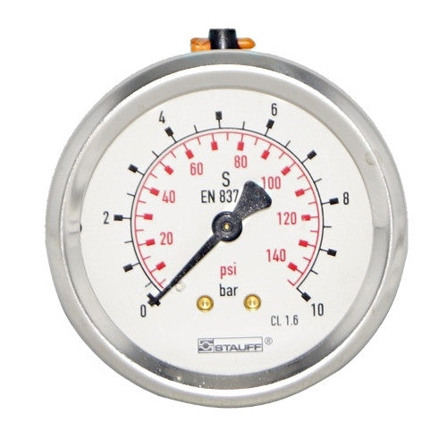 63mm Dial Face Panel Mount Pressure Gauge with BSPP Connection