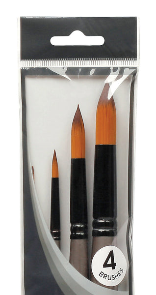 Mont Marte Acrylic Gallery Brush Set 4 pce