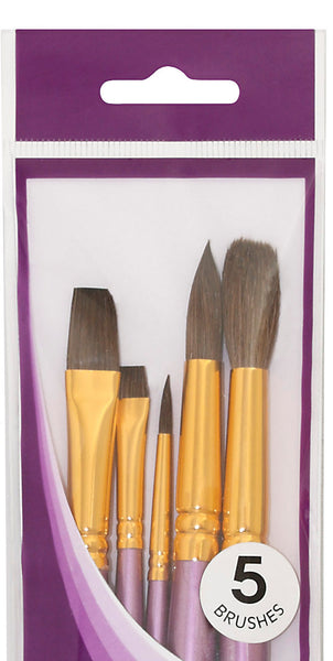 Mont Marte Gallery Watercolour Brush Set 5
