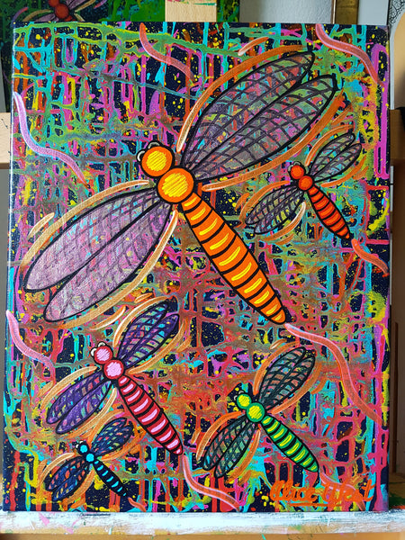 Dragonflies Full Day Kids Intensive Art Workshop - Mon 20th January 2020