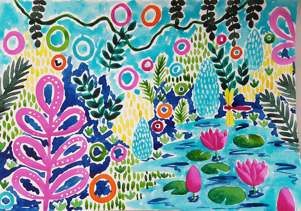 Paint, Sip and Nibble - Tropical Forest Workshop Saturday 7th March 2020