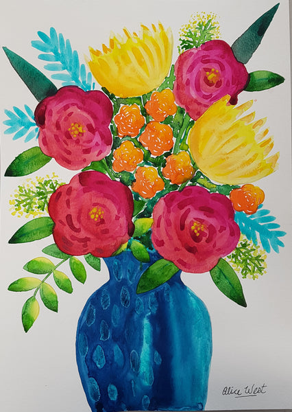 Paint, Sip and Nibble - Pop of Colour Workshop Saturday 4th April 2020