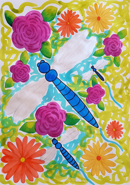 Dragonflies & Blooms Kids Holiday Workshop Monday 13th January