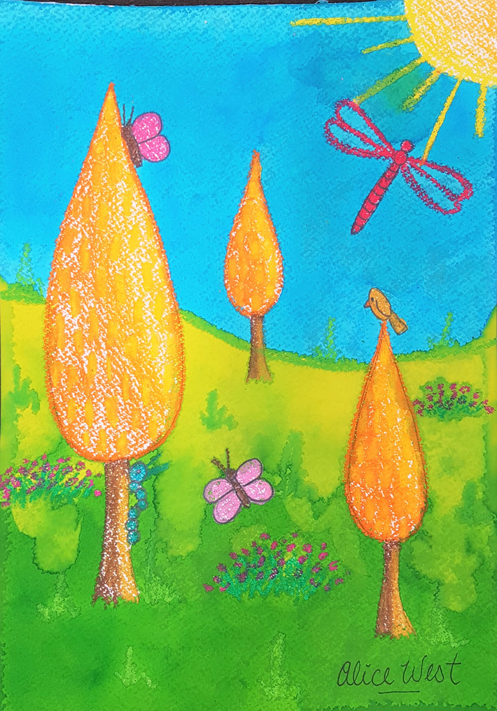 Whimsical Trees Kids Holiday Art Workshop - Thursday 9th July 2020