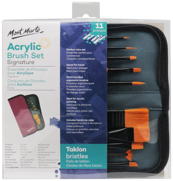 Mont Marte Acrylic Brush Set
