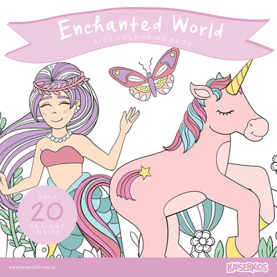 Kaisercraft Kaisercolour Enchanted World Colouring Book