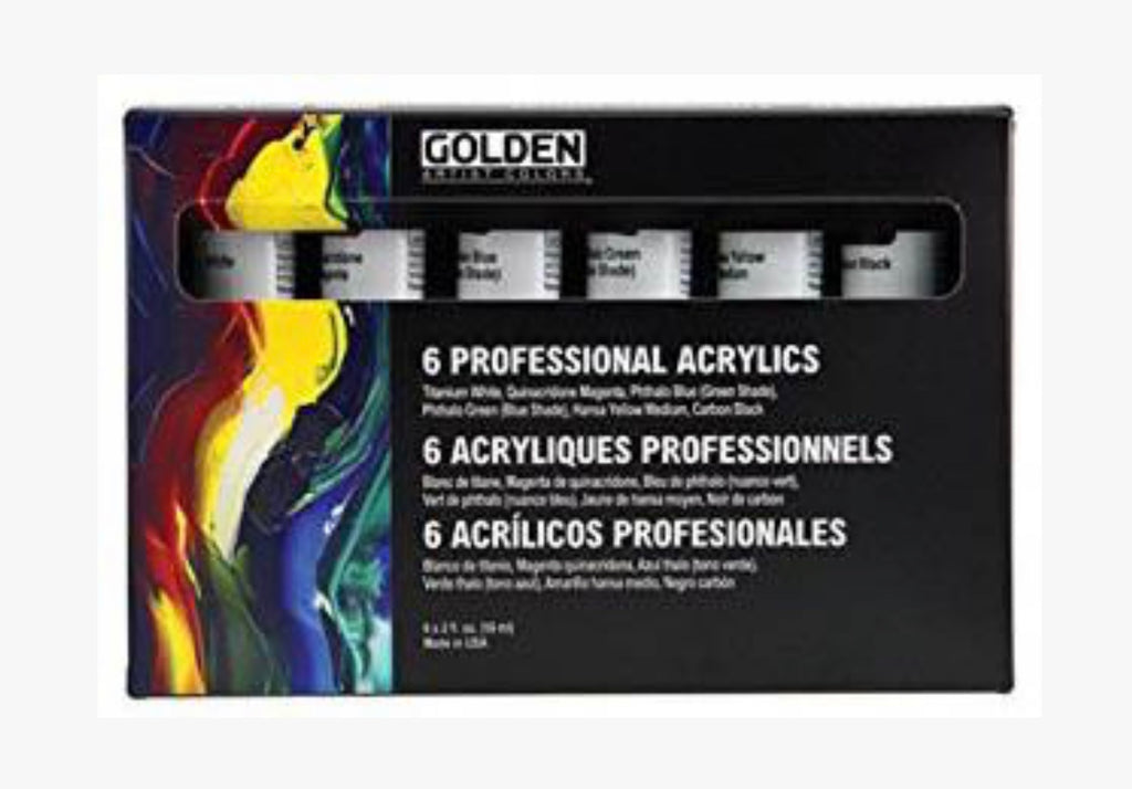 GOLDEN 6 Professional Heavy Body Acrylic Set 910