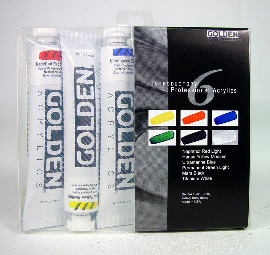 Golden Heavy Body Acrylic Set of 6