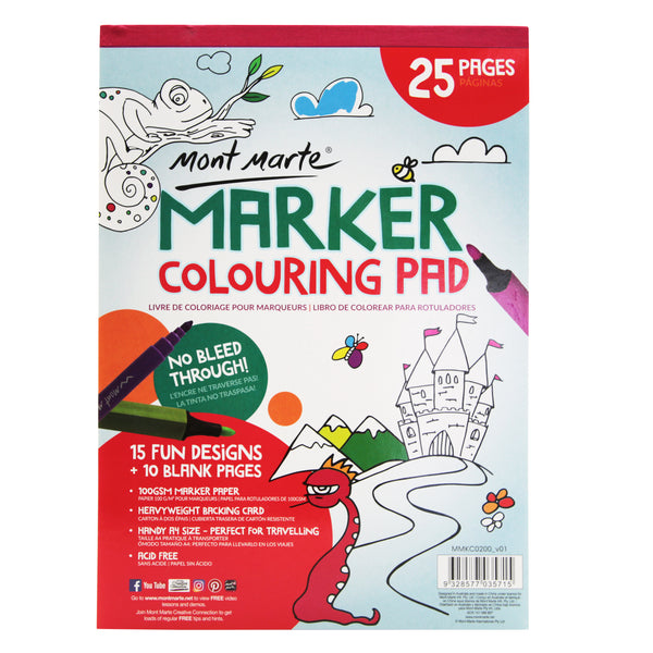 Mont Marte Marker Colouring Pad A4