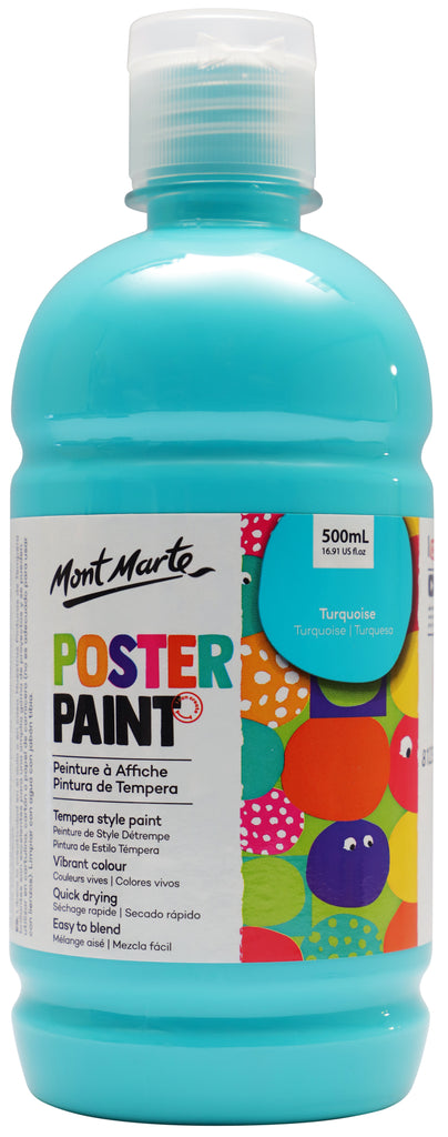 Mont Marte Poster Paint 500ml - Turquoise