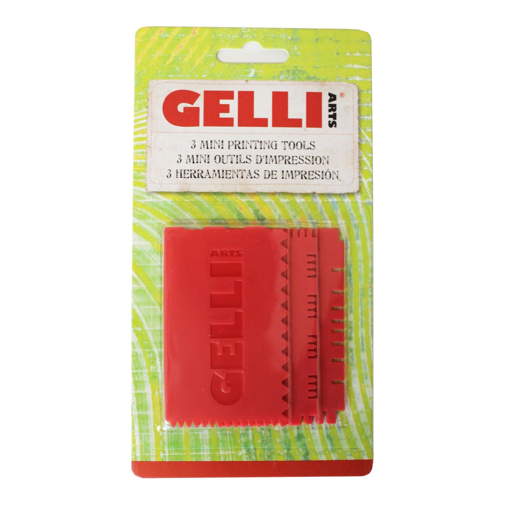 Gelli Arts Mini Printing Tools - Set of 3