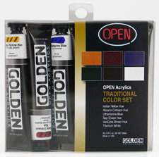 Golden OPEN Acrylic Introductory Sets, Modern or Traditional