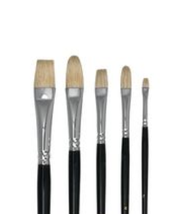 Art Basics Hog Bristle Brush Set 5 BS2015
