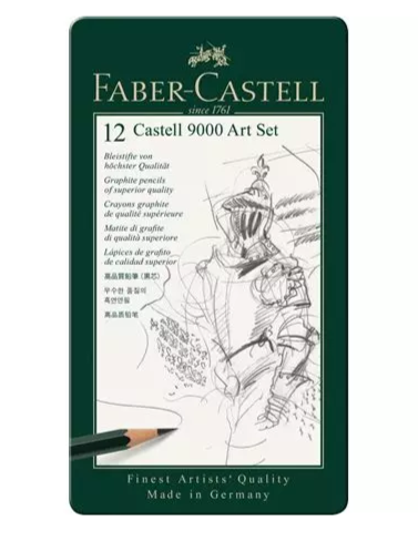 Faber-Castell 'Castell' 9000 Art Pencil Tin Set 12