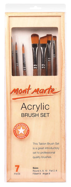 Mont Monte Acrylic Brush Set 7