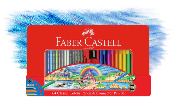 Faber-Castell 64 Classic Colour Pencil & Connector Pen Set