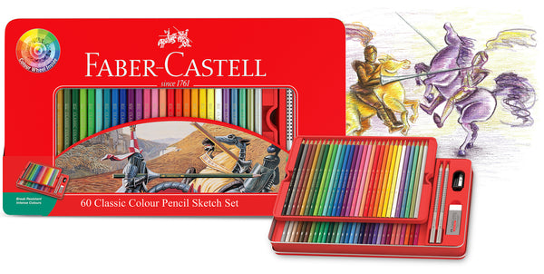 Faber-Castell Classic Colour Pencil Sketch Set + Colour Wheel