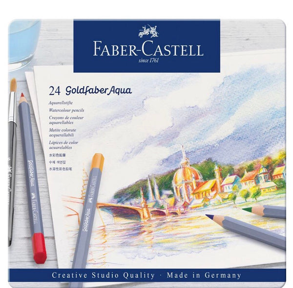 Faber-Castell Creative Studio Aqua/watercolour Pencil Goldfaber Tin 24