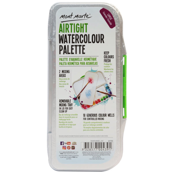 Mont Marte AIRTIGHT Watercolour Palette