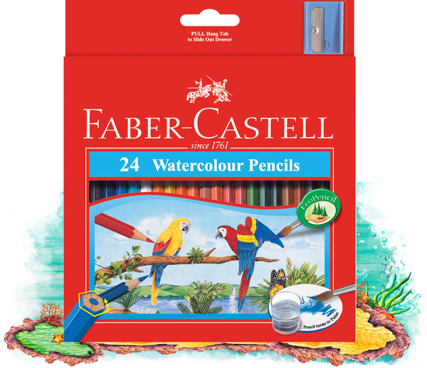 Faber-Castell Watercolour Pencils Box 24 +