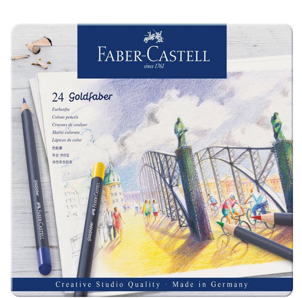 Faber-Castell Creative Studio Colour Pencil Goldfaber Tin 24