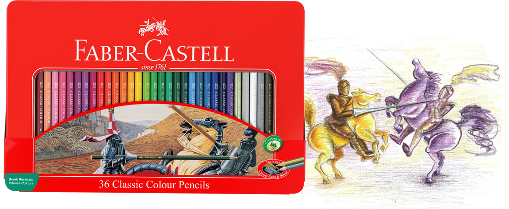 Faber-Castell Classic Colour Pencils Tin 36