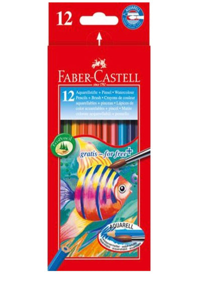 Faber-Castell Watercolour Pencils 12 + 1 brush