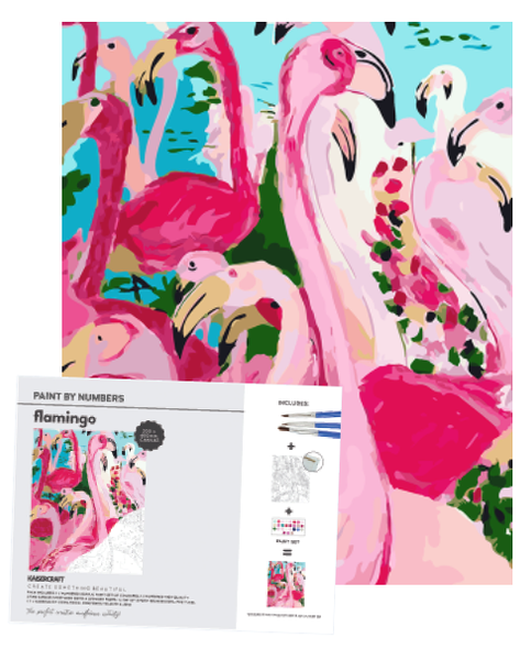 Kaisercraft Paint by Numbers Canvas - FLAMINGO