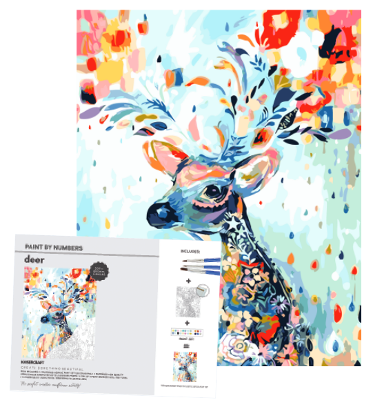 Kaisercraft Paint by Numbers Canvas - DEER