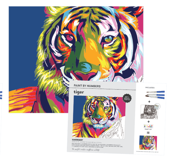 Kaisercraft Paint by Numbers Canvas - TIGER