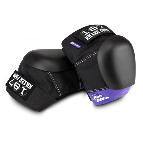 187 Pro Derby Knee Pads - Black/Purple