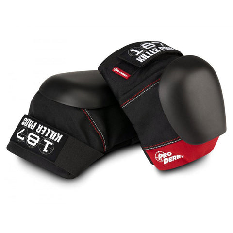 187 Pro Derby Knee Pads - Black/Red