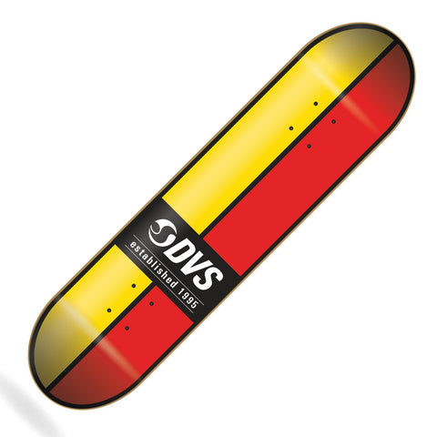 "DVS Ace Skateboard Deck 8.0"" Yellow/Red"