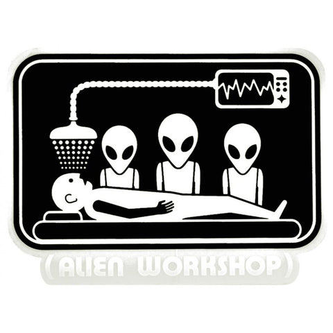 Alien Workshop Abduction Sticker - Black/White