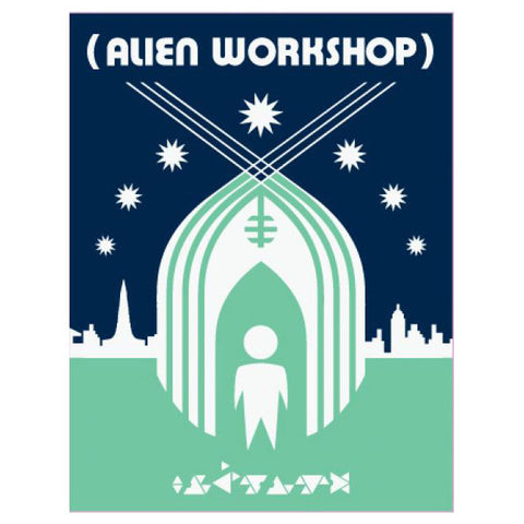 Alien Workshop Shelter Sticker Green/Blue