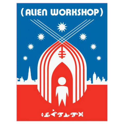 Alien Workshop Shelter Sticker Red/Blue