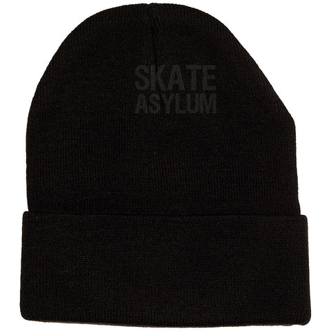 Knitted Black Beanie