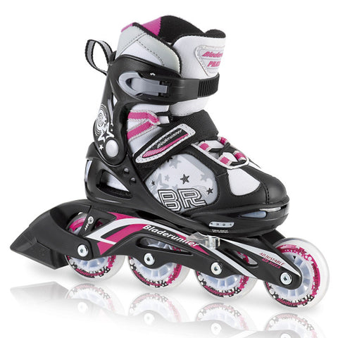 Bladerunner Phaser Flash 2013 Girls Inline Skate - White/Pink