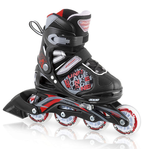 Bladerunner Phaser 2013 Boys Adjustable Skates - Black/Red