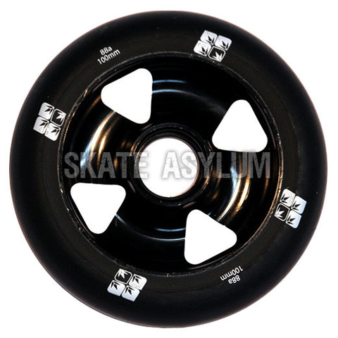 Blunt Cross 4 Spoke 100mm Wheel - Black