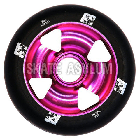 Blunt Cross 4 Spoke 100mm Wheel - Purple