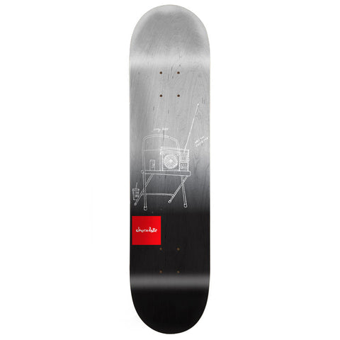 Chocolate Hsu Sketch Fade Skateboard Deck 8.0