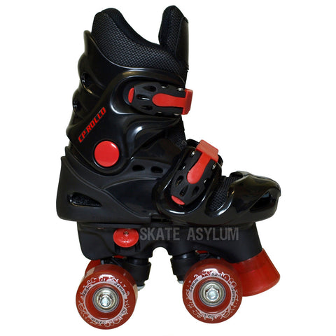 California Pro Rollo Adjustable Roller Skates - Black/Red
